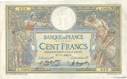 100 Francs LUC OLIVIER MERSON grands cartouches FRANCE  1924 F.24.02 TB