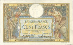 100 Francs LUC OLIVIER MERSON grands cartouches FRANCE  1924 F.24.02 pr.TTB