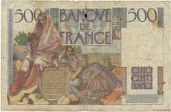 500 Francs CHATEAUBRIAND FRANCE  1945 F.34.01 AB