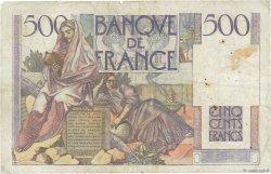 500 Francs CHATEAUBRIAND FRANCE  1945 F.34.03 TB