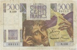 500 Francs CHATEAUBRIAND FRANCE  1952 F.34.09 TB