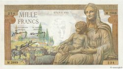 1000 Francs DÉESSE DÉMÉTER FRANCE  1943 F.40.15 SPL+