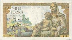 1000 Francs DÉESSE DÉMÉTER FRANCE  1943 F.40.26 TTB+