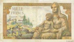 1000 Francs DÉESSE DÉMÉTER FRANCE  1943 F.40.40 TB+