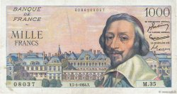 1000 Francs RICHELIEU FRANCE  1954 F.42.04 TTB