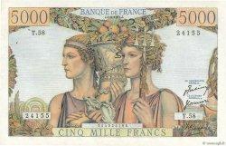5000 Francs TERRE ET MER FRANCE  1951 F.48.04 SPL