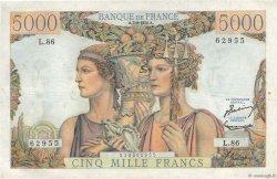 5000 Francs TERRE ET MER FRANCE  1952 F.48.06 TTB à SUP