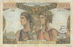 5000 Francs TERRE ET MER FRANCE  1952 F.48.06 B