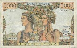 5000 Francs TERRE ET MER FRANCE  1952 F.48.07 TB