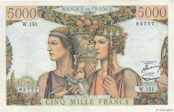 5000 Francs TERRE ET MER FRANCE  1956 F.48.11 SUP+