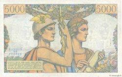 5000 Francs TERRE ET MER FRANCE  1957 F.48.13 TTB