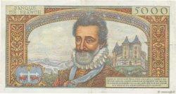 5000 Francs HENRI IV FRANCE  1957 F.49.01 TTB+