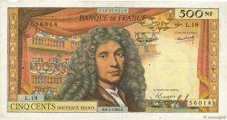 500 Nouveaux Francs MOLIÈRE FRANCE  1965 F.60.08 TB