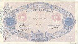 500 Francs BLEU ET ROSE FRANCE  1926 F.30.29 TB+