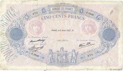 500 Francs BLEU ET ROSE modifié FRANCE  1937 F.31.01 B