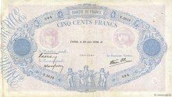500 Francs BLEU ET ROSE modifié FRANCE  1938 F.31.17 TB+