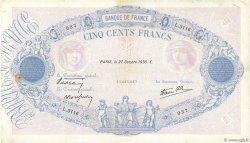 500 Francs BLEU ET ROSE modifié FRANCE  1938 F.31.21 TB