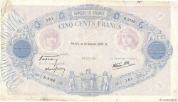 500 Francs BLEU ET ROSE modifié FRANCE  1939 F.31.23 TB+