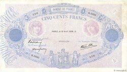 500 Francs BLEU ET ROSE modifié FRANCE  1939 F.31.31 TTB