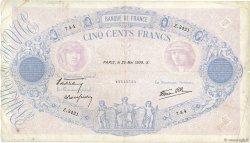 500 Francs BLEU ET ROSE modifié FRANCE  1939 F.31.33 TB
