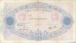 500 Francs BLEU ET ROSE modifié FRANCE  1939 F.31.41 TB