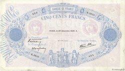 500 Francs BLEU ET ROSE modifié FRANCE  1939 F.31.54 TB+