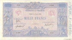 1000 Francs BLEU ET ROSE FRANCE  1914 F.36.28 pr.TTB