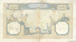 1000 Francs CÉRÈS ET MERCURE type modifié FRANCE  1937 F.38.05 TB