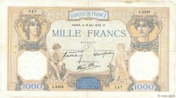 1000 Francs CÉRÈS ET MERCURE type modifié FRANCE  1938 F.38.15 TB