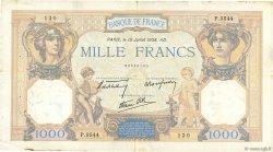 1000 Francs CÉRÈS ET MERCURE type modifié FRANCE  1938 F.38.23 TTB