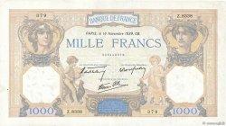 1000 Francs CÉRÈS ET MERCURE type modifié FRANCE  1939 F.38.39