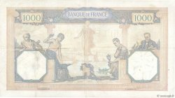 1000 Francs CÉRÈS ET MERCURE type modifié FRANCE  1939 F.38.39 TTB+
