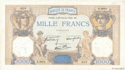 1000 Francs CÉRÈS ET MERCURE type modifié FRANCE  1940 F.38.43 TTB