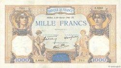 1000 Francs CÉRÈS ET MERCURE type modifié FRANCE  1940 F.38.43 pr.TTB