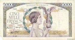 5000 Francs VICTOIRE Impression à plat FRANCE  1939 F.46.04 TB