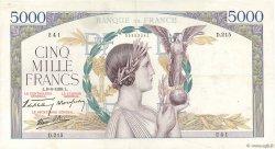 5000 Francs VICTOIRE Impression à plat FRANCE  1939 F.46.07 TTB+