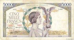 5000 Francs VICTOIRE Impression à plat FRANCE  1939 F.46.08 TB