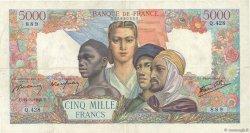 5000 Francs EMPIRE FRANÇAIS FRANCE  1945 F.47.18 TTB
