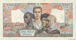 5000 Francs EMPIRE FRANÇAIS FRANCE  1945 F.47.31 pr.TTB