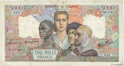 5000 Francs EMPIRE FRANÇAIS FRANCE  1945 F.47.43 B+