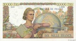 10000 Francs GÉNIE FRANÇAIS FRANCE  1954 F.50.70 SUP