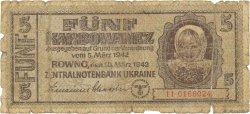 5 Karbowanez UKRAINE  1942 P.051 AB