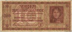 10 Karbowanez UKRAINE  1942 P.052 B