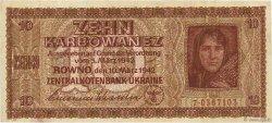 10 Karbowanez UKRAINE  1942 P.052 TTB