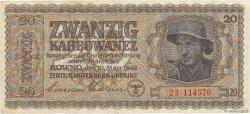 20 Karbowanez UKRAINE  1942 P.053 TB+