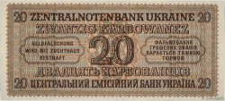 20 Karbowanez UKRAINE  1942 P.053 pr.NEUF