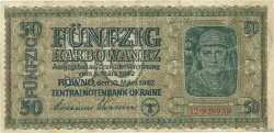 50 Karbowanez UKRAINE  1942 P.054 TB