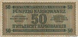 50 Karbowanez UKRAINE  1942 P.054 TTB