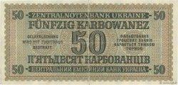 50 Karbowanez UKRAINE  1942 P.054 TTB+