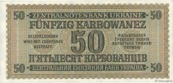 50 Karbowanez UKRAINE  1942 P.054 SPL